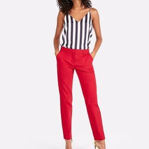 EXPRESS RED MID RISE ANKLE COLUMNIST PANT